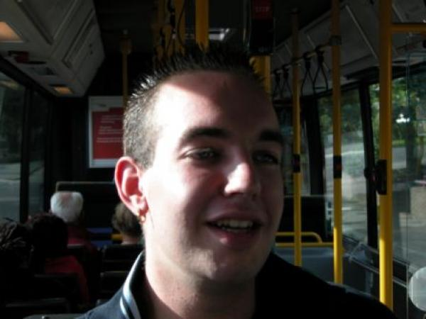 Mark in de bus